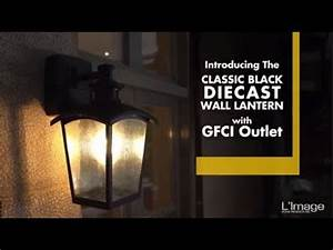 Home Luminaire Die Cast Outdoor Wall Lantern With Gfci