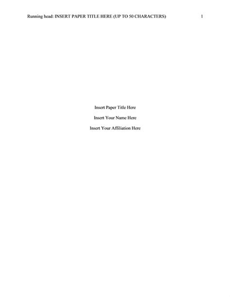 Apa Format Title Page 6th Edition Template Tolg Apa Format Title Page 6th Edition Template Tolg