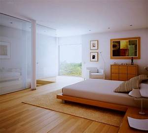 White bedroom wood floors and view interior design ideas for Interior design ideas with wooden floors