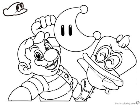 Mario 64 Coloring Pages Mario Odyssey Coloring Pages Funy Line Drawing