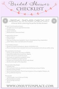 handy printable checklist to help plan the perfect bridal With wedding shower checklist
