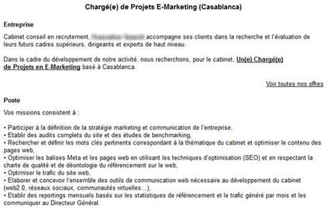 coup de gueule les offres d emploi dans le e marketing au maroc