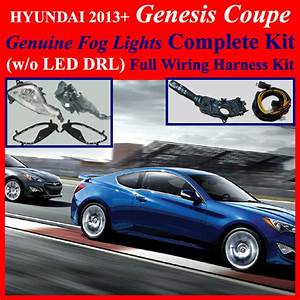 Fog Light Lamp No Led Drl  Complete Kit Wiring Harness For