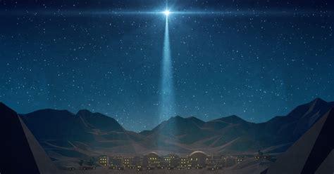 bethlehem night christmas star motion background