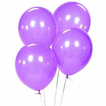 Balloons Purple Birthday Latex Helium Baloni Inch