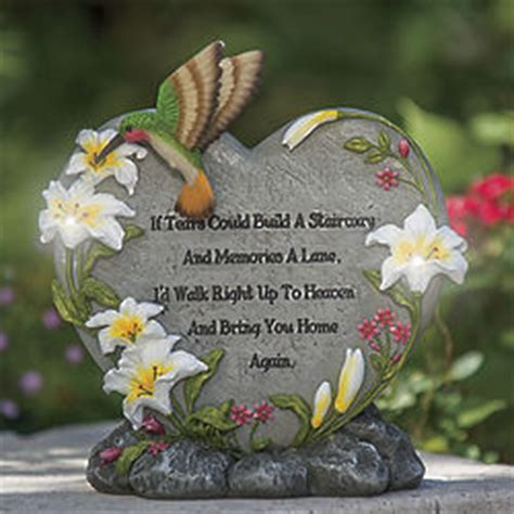 solar hummingbird memorial garden statue findgiftcom