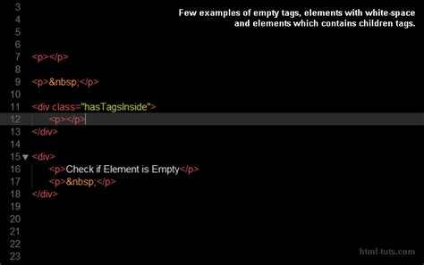 html div element check if div is empty or html element has children tags