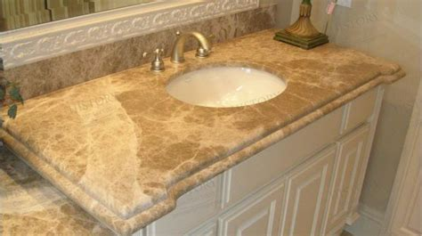 Imported Light Emperador Marble Bathroom Countertop