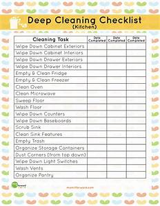 printable kitchen cleaning checklist mom it forwardmom With commercial kitchen cleaning checklist template