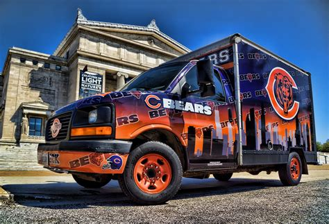 Chicago Bears Fan Tailgating Party Vehicle
