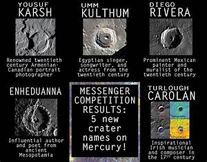 New crater names as MESSENGER prepares to crash on Mercury ...