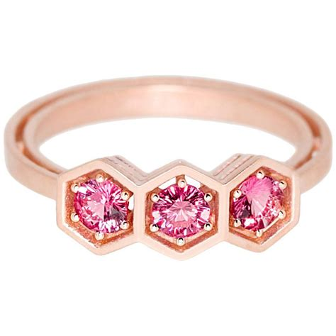 spine l for sale pink spinel gold three stone ring for sale at 1stdibs