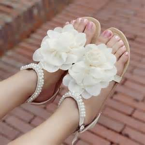 wedding shoes sandals white flat sandal wedding shoes ipunya