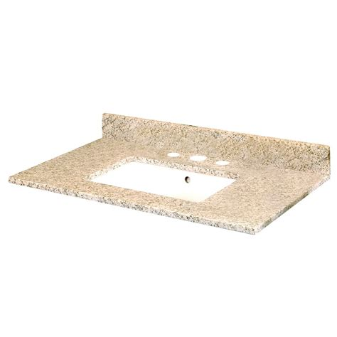 pegasus 37 inch w x 22 inch d granite vanity top in golden