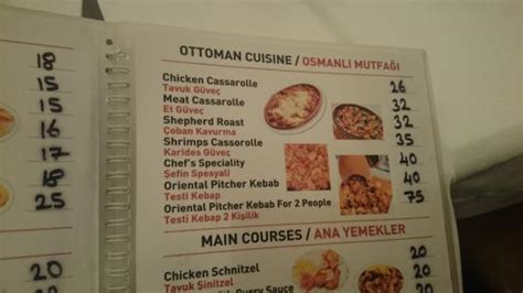 Ottoman Menu by Part Of The Menu Picture Of Ottoman Cafe