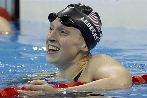 swimmer katie ledecky wins  gold medal  rio