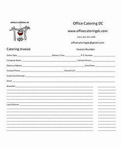 Free Catering Invoice Template Free 9 Sample Catering Invoice Templates In Ms Word Pdf