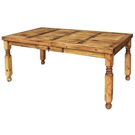 rustic dining tables for rustic pine collection lyon dining table mes24 7836