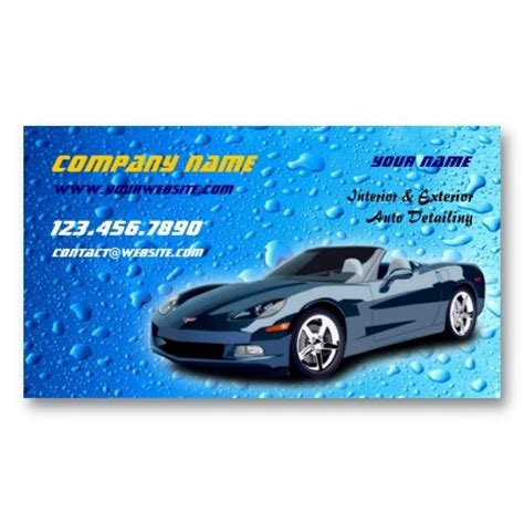 Auto Forwarder Auto Detailing Business Card Business Cards