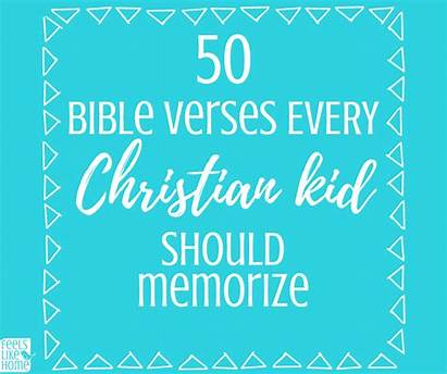 Bible Verses Memorize Christian Kid Should Every