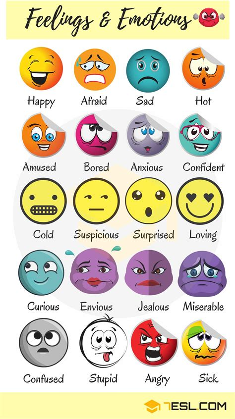 How To Describe Someone's Feelings And Emotions  7 E S L