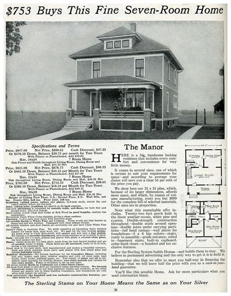 American Foursquare Floor Plans Modern by The Manor 1916 House Plans