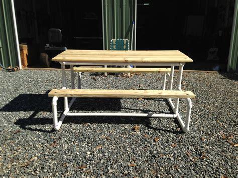 picnic table   pvc pipe  yard pinterest