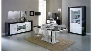 Meuble Rangement Salle A Manger : meuble tv moderne 2 portes noir et blanc nevis gdegdesign ~ Teatrodelosmanantiales.com Idées de Décoration