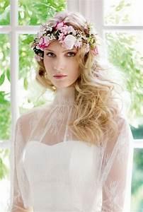 Couronne De Fleurs Mariée : couronne de fleurs cheveux mariage ~ Farleysfitness.com Idées de Décoration