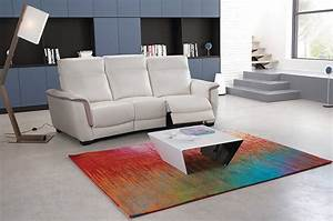 chartreuse With tapis persan avec canape cuir home cinema