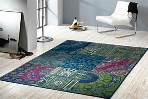 Großer Runder Teppich : gro er design patchwork teppich copper 160x230 cm vintage riess ~ Markanthonyermac.com Haus und Dekorationen