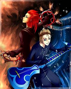 Axel and Demyx by Firefly-Raye on DeviantArt