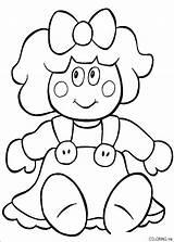 Doll Coloring Rag Printable Templates Getdrawings sketch template