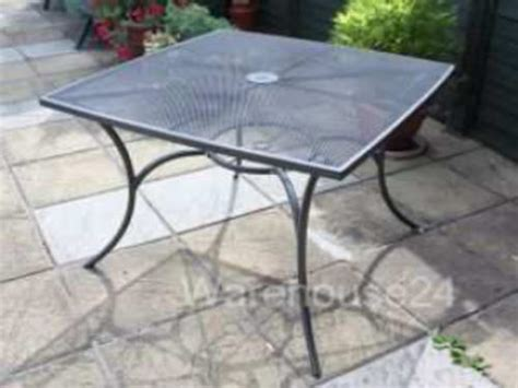 new grey steel metal mesh top square garden patio bistro