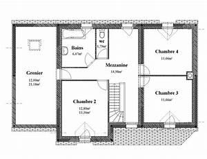 Plan Maison 4 Pans Etage