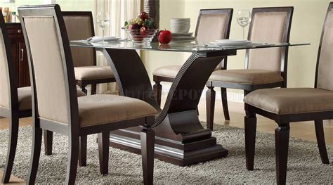plano dining table  homelegance  espresso