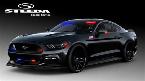 S550 Mustang Police Car From Steeda Is Ready To Protect
