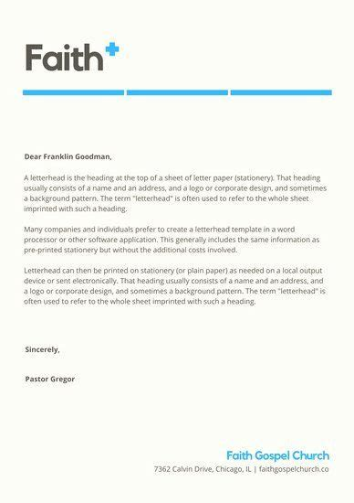 Whether you're making a letterhead for a creative professional or an agency, this template will help you design a letterhead that stands out from the crowd. Church Letterhead Templates Inspirational Customize 40 ...