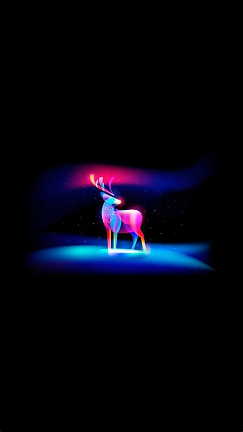 neon art deer iphone wallpaper iphoneswallpaperscom