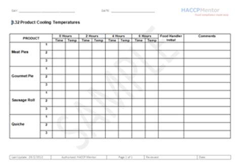 ccp monitoring records  haccp haccp mentor