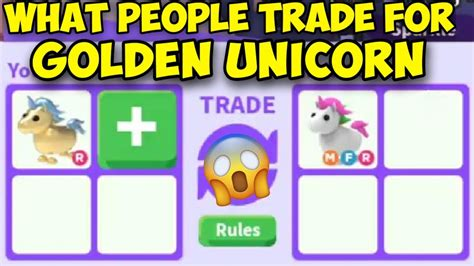 (adopt me uni)(adopt me) hope you enjoyed in this video i make a adopt me and. What people trade for Golden Unicorn   Trading Golden ...
