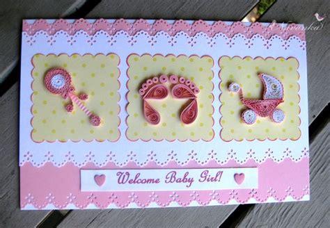 craft ideas   handmade  baby girl greeting