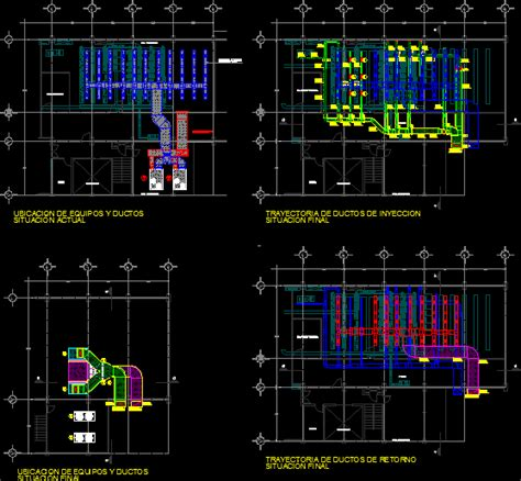 split type air conditioning system installation dwg block for autocad designscad