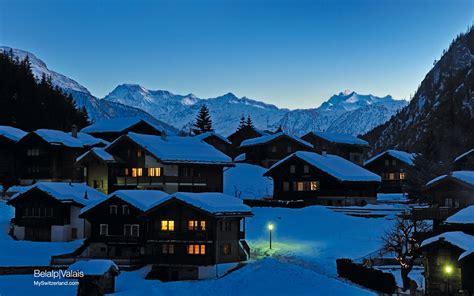 valais bell alpine town wallpaper