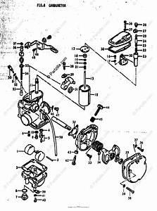 Suzuki Motorcycle 1979 Oem Parts Diagram For Carburetor