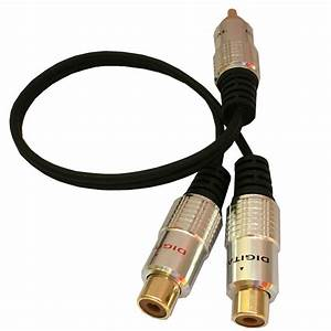 New 1 Rca Male To 2 Phono Female Splitter Y Adapter Cable