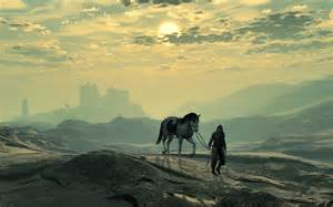 Image result for images of lone warrior on horseback