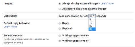 how to enable undo send in gmail