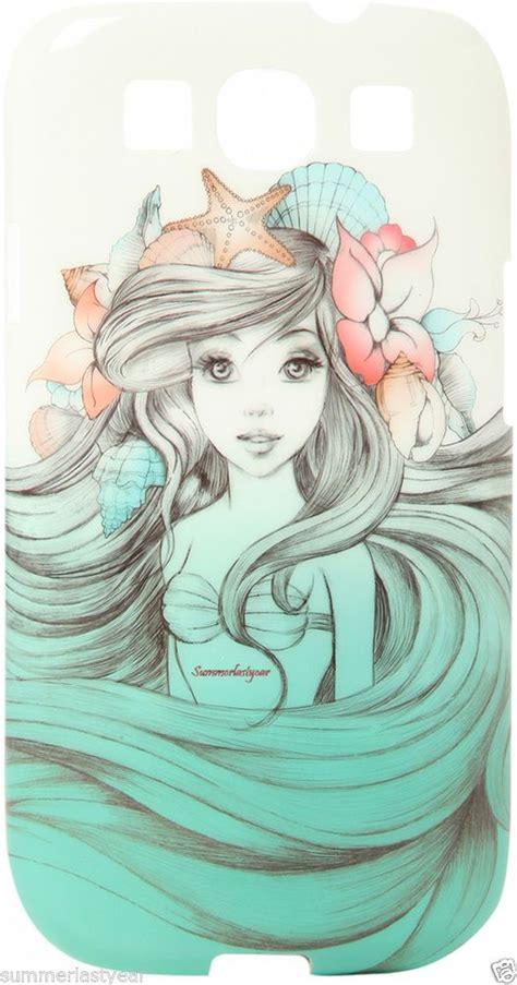 arielthe  mermaid sketch phone case  galaxy