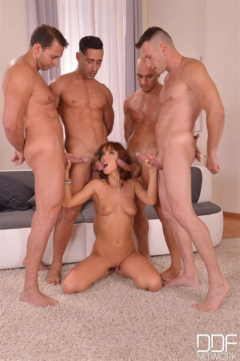 Horny Redhead Tina Hot Enjoys A Group Sex 2 Of 2